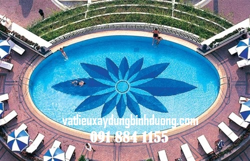 Tranh Mosaic Hồ Bơi